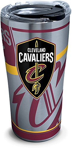 (Tervis 1281650 NBA Cleveland Cavaliers Paint 20 oz Stainless Steel Tumbler with lid, 30 oz, Silver)