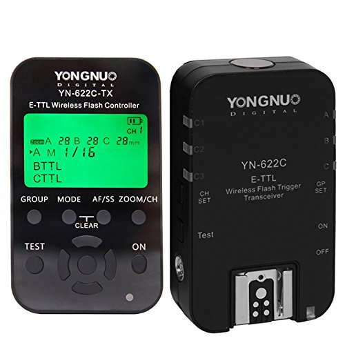Eboxdeal Yongnuo 1pc YN-622C-TX + 1pc YN-622C E-TTL Wireless Flash Controller Flash Trigger Transceiver for Canon DSLR by Flash Trigger