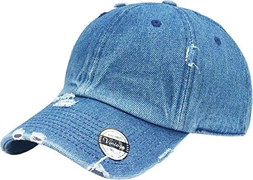 KBE-VINTAGE MDM Vintage Washed Cotton Dad Hat Baseball Cap Polo Style