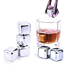 10 pcs/lot Stainless Steel Whiskey Stones Ice Cubes Soapstone Glacier Cooler Stone