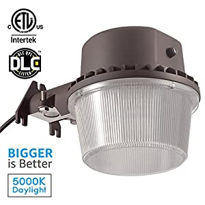 TORCHSTAR Dusk-to-dawn LED Outdoor Barn Light (Photocell Included), 35W (250W Equiv.), 5000K Daylight Floodlight, DLC & ETL-listed Yard Light for Area Lighting, 5-year Warranty