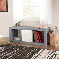 Durable Better Homes and Gardens 3-Cube Organizer, Gray