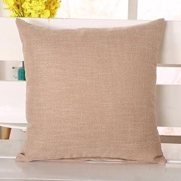 XH@G Home Decoration Burlap Plain Sofa Cushions Chair Cushions Bedside  Cushions 45cm 45cm ,