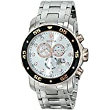 Invicta Men's 80037 Pro Diver Chronograph Silver Dial Stainless Steel Watch