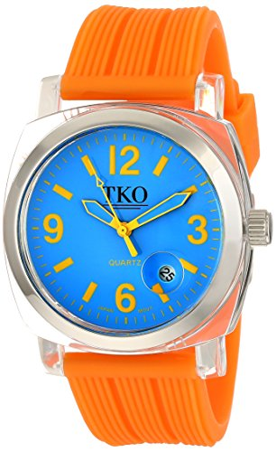 TKO ORLOGI Women's TK558-NO Milano Junior Acrylic Case Blue Dial Watch (Orange Juniors Dial)