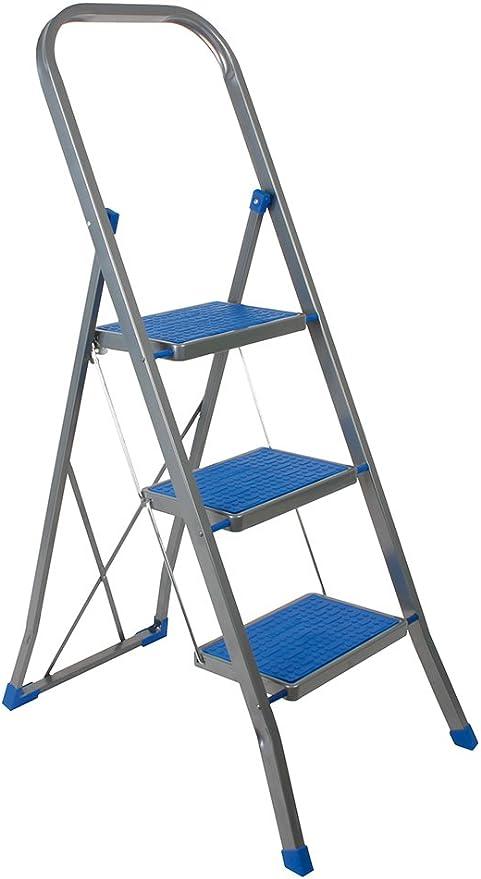 Escalo L423HB - Escalera plegable (3 peldaños, aluminio, 129,5 x ...