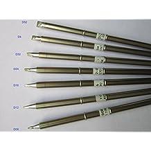 7 Pcs China Made Soldering Tip 12-D08,T12-D4,T12-D12,T12-D16,T12-D24,T12-D32,T12-D52 Solder Iron Bit(Nozzle) Not HAKKO,T12 interchangeable with T15 tips