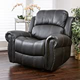 Great Deal Furniture Harbor Black Faux Leather Gliding Recliner