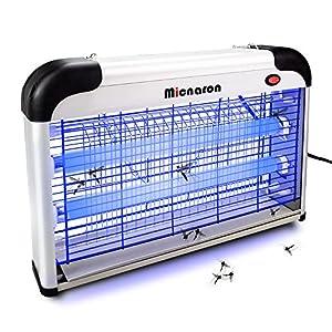 Micnaron Electric Bug Zapper/Pest Repeller Control-Strongest Indoor 2800 V 6000ft² UV Lamp Flying Fly Insect Killer Mosquitoes Flies Killer Repellent Traps Eliminator Catcher lure Zap kills Mosquito