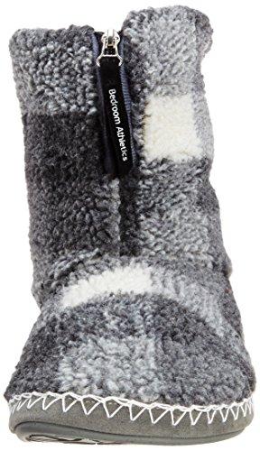 Camera Da Letto Athletics Mens Mcqueen-check Sherpa Boot Grey / White