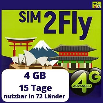 Tarjeta SIM de Datos prepagada para Corea del Sur Que Incluye 72 destinos de Vacaciones con 4 GB válidos Durante 15 días: Amazon.es: Electrónica