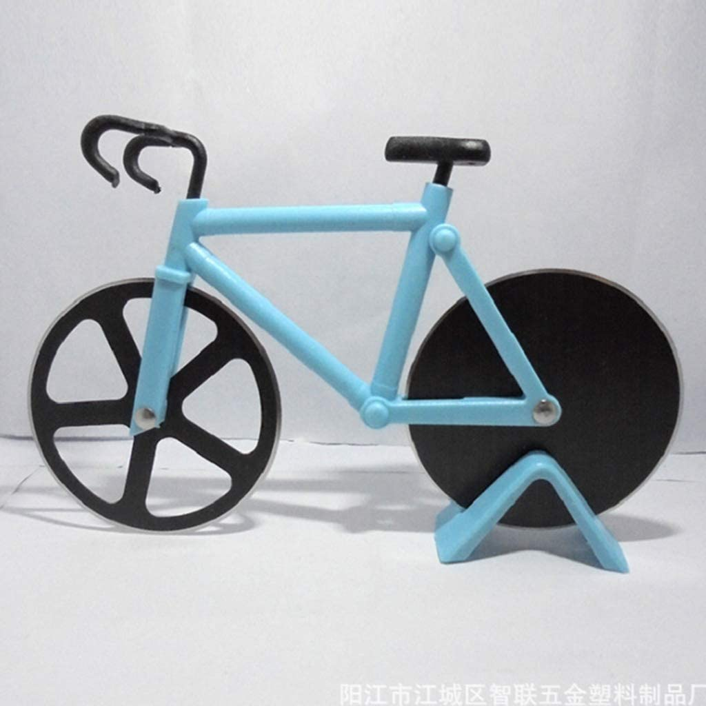 Compra WJLED Bicicleta Rueda Cortador Pizza Antiadherente Doble ...