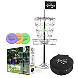 Portable DISC Golf Target with 3 PUTTERS and Carry CASE