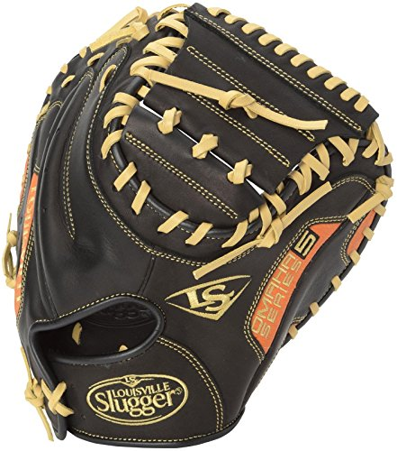 Louisville Slugger Omaha S5 Orange Catcher's Mitt Black with ()