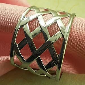 CH y CH Metal jadella 12 boda anillo de servilleta, hierro fantronix 4,5 cm, dorado