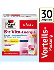 Doppelherz B12 Vita-Energie Trinkfläschchen – Energie und Leistungsfähigkeit für Körper und Geist – Vitamin B12 zur Verringerung von Müdigkeit und Erschöpfung – 30 x 10 ml Fläschchen