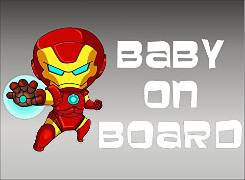 IRONMAN Baby on Board, decal, vinyl, sticker, graphic -