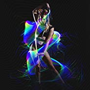 GloFX Space Whip Remix [PROGRAMMABLE LED Fiber Optic Whip] 6 Ft 360° Swivel - Super Bright Light Up Rave Toy |