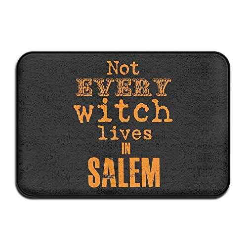 Rug Contour Square (Huishe1 Bathroom Rug Mat Contour Rug Toilet Floor Rug Flannel Bath Shower Mat Not Every Witch Lives In Salem Square Carpet)