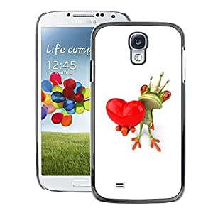 A-type Arte & diseño plástico duro Fundas Cover Cubre Hard Case Cover para Samsung Galaxy S4 (Crown White Love Valentine Valentines)