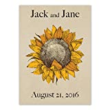 Set of 25 Personalized Seed Packet Favors Dwarf Sunspot Sunflowers (SN001) Open Pollinated Seeds by Seed Needs