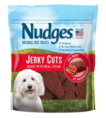 Nudges Steak Jerky Dog Treats, 16 oz