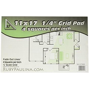 amazon com alvin quadrille paper grid pad size 17 x 22 inches