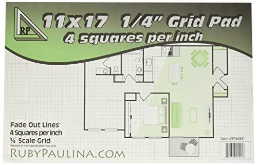 11x17 Grid Pad 1/4