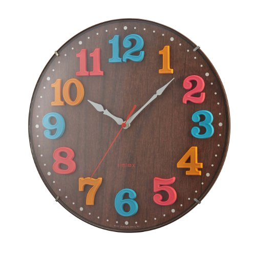 NOA radio wall clock air Real Kids Brown W-618