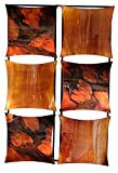 Cheap Heather Ann Creations 6 Square Panel Decorative Metal Wall Accent Art, 16″ x 25″ x 2″, Metal with Foil and Lacquer Finish in Copper, Brown and Gold