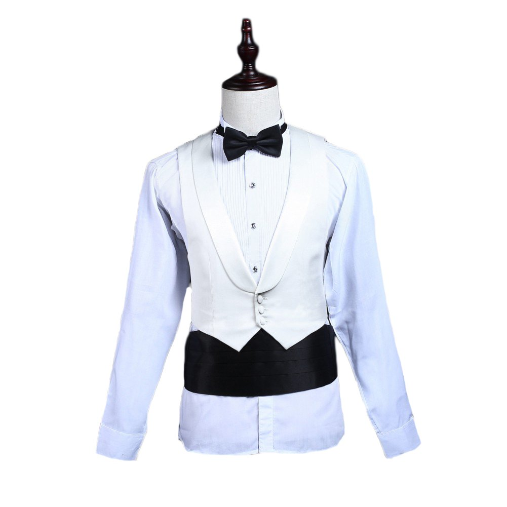 Love Dress Men's 3 Pieces Suit Groom Tuxedo(Jacket+Pants+Vest) 5XL