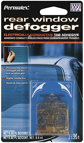 6 Pack Permatex 21351 Electrically Conductive Rear Window Defogger Tab Adhesive - 2 Part (Quick Grid Rear Window)