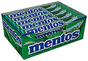 Mentos Chewy Mint Candy Roll, Spearmint, 1.32 ounce/14 Pieces  (Pack of 15)