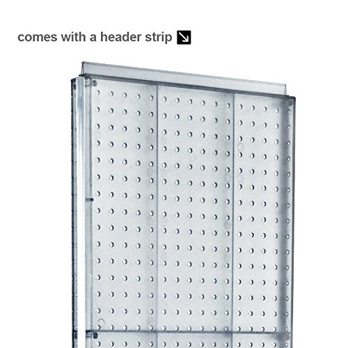 New Black Freemoving Pegboard Floor Stand 16'' W X 60'' H on Revolving Base by Pegboard (Image #2)