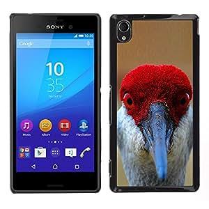 LECELL--Funda protectora / Cubierta / Piel For Sony Xperia M4 Aqua -- divertidos rojos ojos pico pluma pájaro tropical --