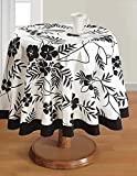 Round Tablecloth - 60 inches in Diameter - Tablecloths for 4 Seat Tables - Duck Cotton - Machine Washable