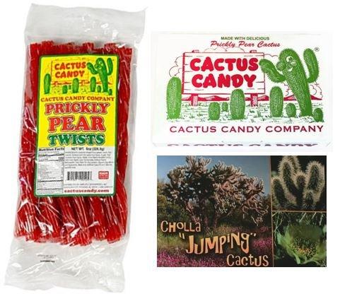 (Cactus Candy Company Prickly Pear Licorice Twists & Arizona Prickly Pear Cactus Candy Bundle with Bonus Postcard)
