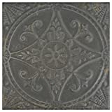 SomerTile FPESAJN Murcia Ceramic Floor and Wall Tile, 13'' x 13'', Nero