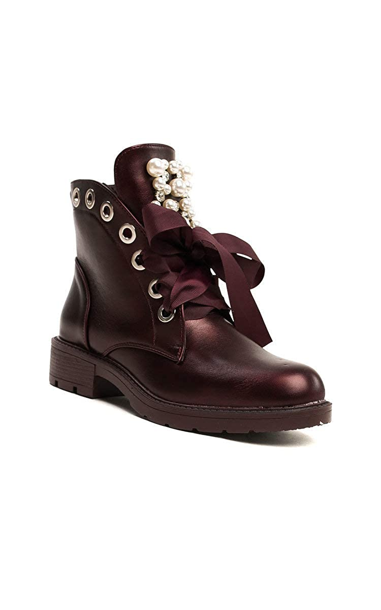 a75ffe190 Ikrush Womens Aoife Embellished Biker Boots  Amazon.co.uk  Shoes   Bags