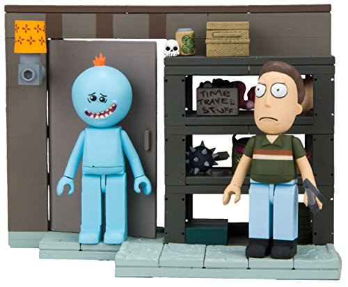 McFarlane Toys Rick & Morty Smith Garage Rack Small Construction Interlocking Building Set (Building Construction Smith)