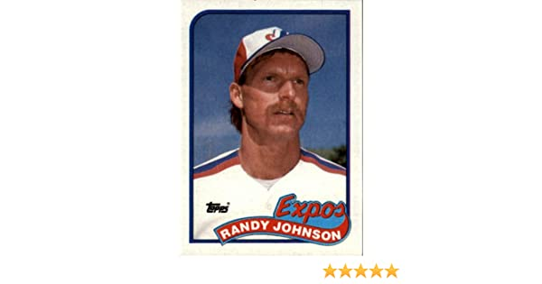 1989 Topps Baseball Rookie Card 647 Randy Johnson Mint