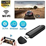 Fancart WiFi Display Dongle, Wireless Display Receiver HDMI Dongle Miracast TV Dongle Adapter for iOS Android Smartphones/Windows/MacBook Laptop to HDTV Projector Monitor