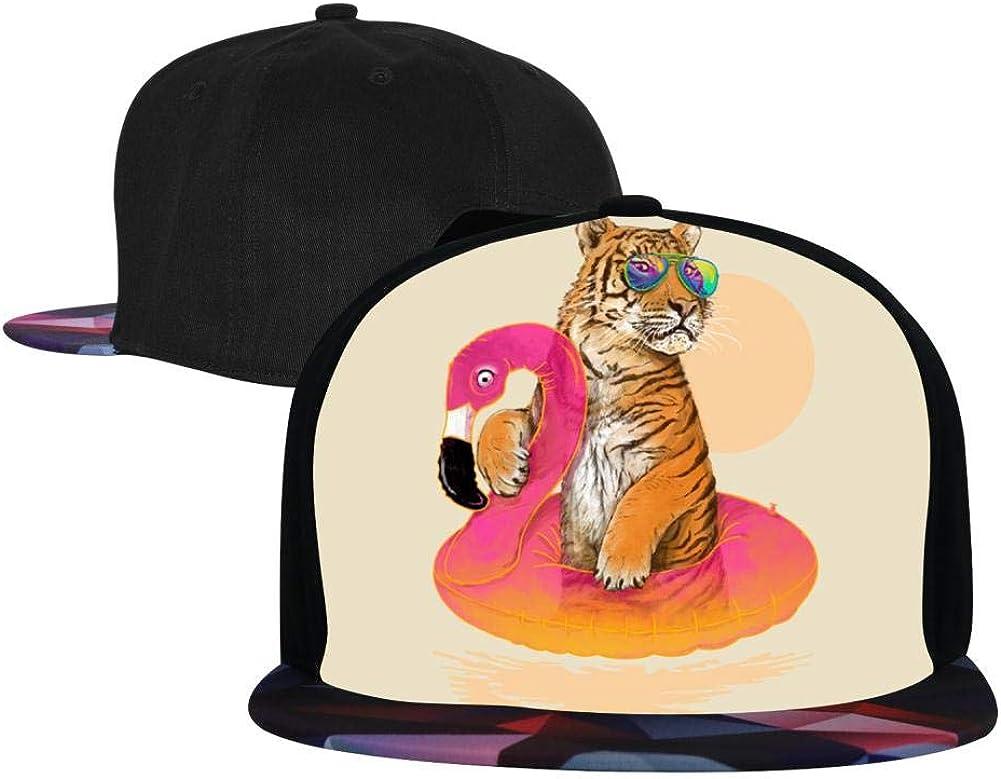 Flamingo Tiger Unisex Hip-Hop Cap Adjustable Top Plain Sport Baseball Hat
