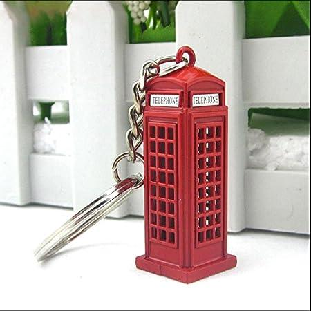 TOOGOO Vintage cabina telefonica britanica miniatura Londres coche llavero llaveros Diecast llavero regalo para mujeres ninas: Amazon.es: Hogar