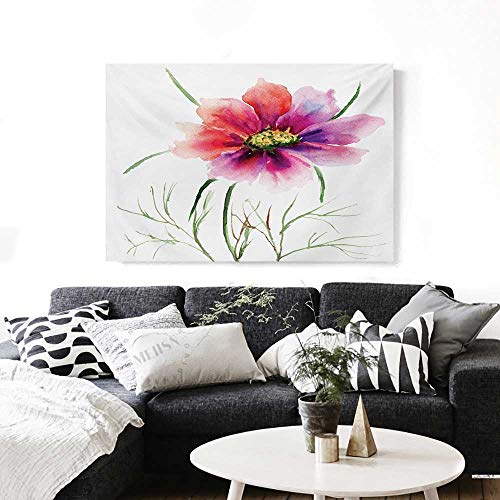 Watercolor Canvas Wall Art Beautiful Two Colored Flower Blossom Nature Spring Revival of Life Print Paintings for Home Wall Office Decor 28