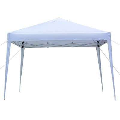 Tidyard 3 x 3m Folding Tent Practical Waterproof Gazebo Heavy Duty Right-Angle Party Tent for Garden Party White : Garden & Outdoor