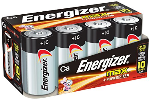 Energizer C Cell Batteries, Max Alkaline C Battery Size, (8 - Cell C Pack 4 Batteries
