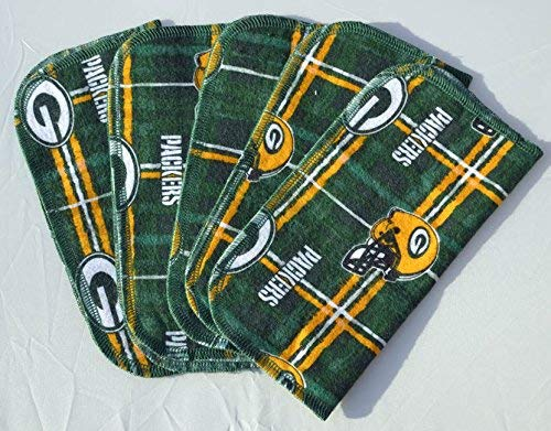 1 Ply Printed Flannel Washable-Packers-Set Napkins 8x8 inches 5 Pack - Little Wipes (R) Flannel