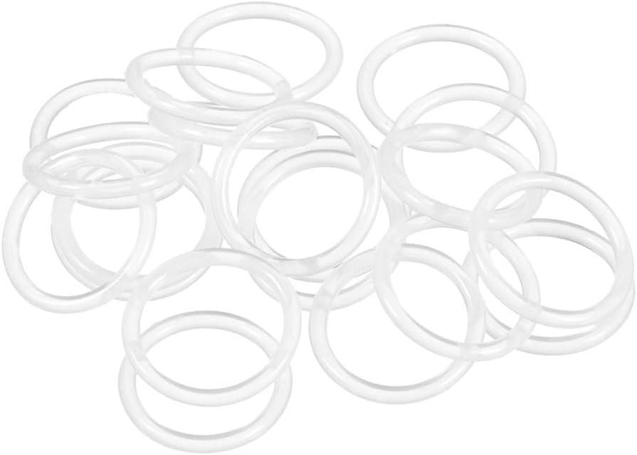 sourcing map 20 Stk.Silikon O Ringe 14mm Innendurchmesser 18mm Au/ßendurchmesser 2mm Breite