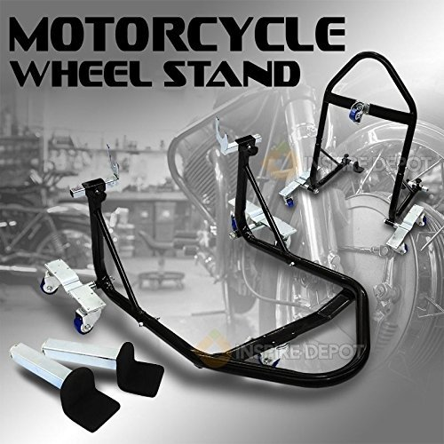 Generic Portable A Front Rear Portable Shop Fr Lift Combo Shop Combo (1) Motorcycle Stand Swinga Auto New le St Bike Swingarm